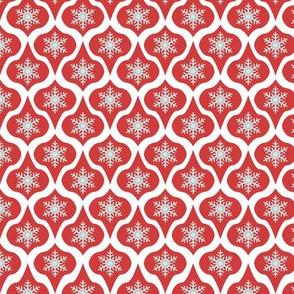Red Retro Ornaments