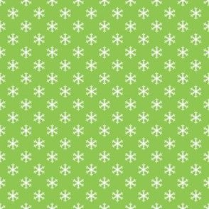 Retro Holly Jolly Green Snowflakes