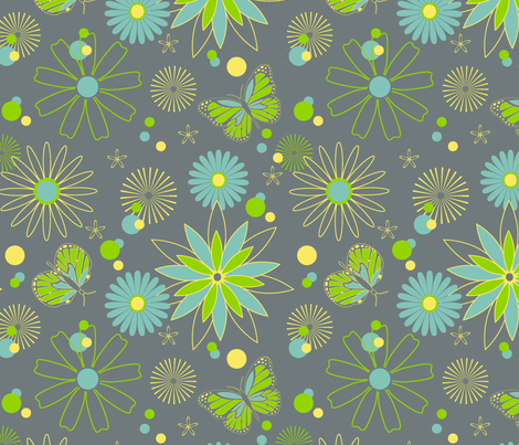 Cocoon Garden fabric by designedtoat on Spoonflower - custom fabric