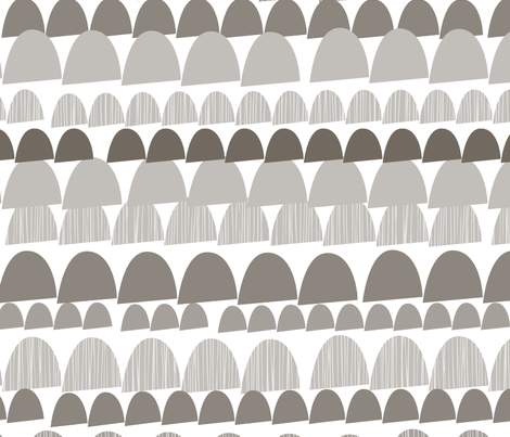 Shroom cool mix fabric by katyclemmans on Spoonflower - custom fabric