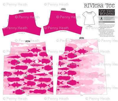 Pink Fish Funk Under The Sea T-Shirt Pattern