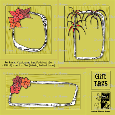 Flowery Gift Tags