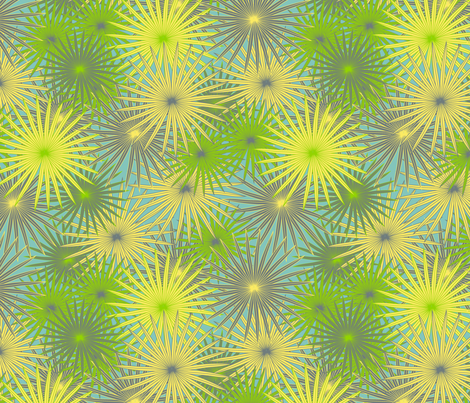 tropical fern fabric by kociara on Spoonflower - custom fabric
