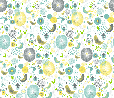 Spring Spirit fabric by demigoutte on Spoonflower - custom fabric
