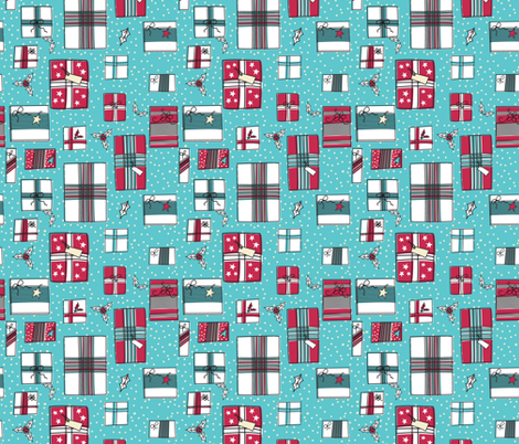 Retro Christmas Packages  fabric by diane555 on Spoonflower - custom fabric