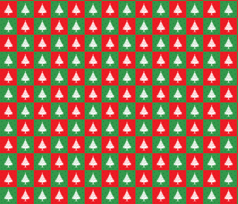 Retro Style Christmas Trees Pattern  fabric by diane555 on Spoonflower - custom fabric