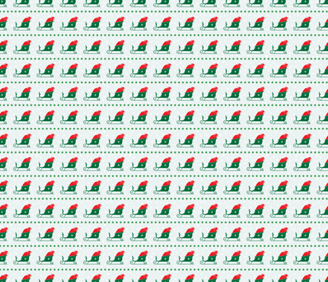 Retro Style Santa's Sleigh Christmas Pattern  fabric by diane555 on Spoonflower - custom fabric