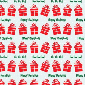 Retro Style Gifts Christmas Pattern