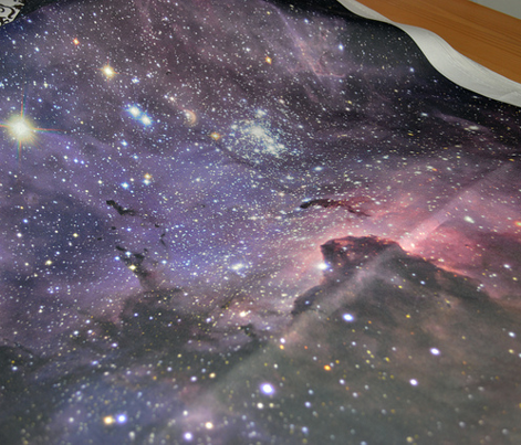 large scale space print