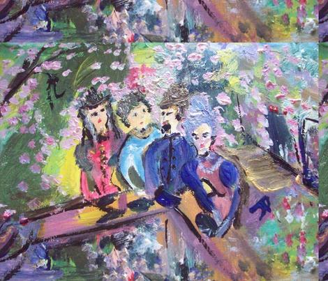 Afternoon in the garden fabric by myartself on Spoonflower - custom fabric