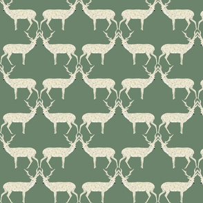 Christmas Deer - Sage Green
