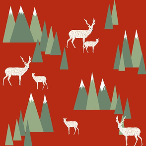 Christmas Deer - Woodland