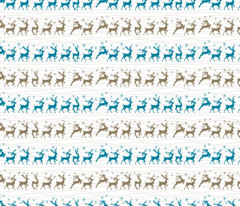 Cute Retro Reindeer Christmas Pattern fabric by diane555 on Spoonflower - custom fabric