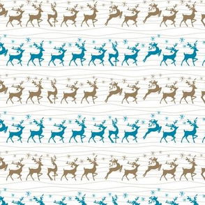 Cute Retro Reindeer Christmas Pattern