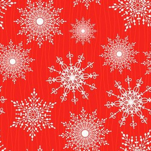 Ornate Snowflakes Pattern
