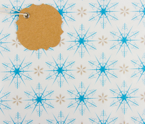 Cute Retro Snowflakes Christmas Pattern