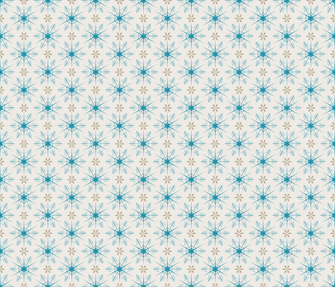 Cute Retro Snowflakes Christmas Pattern fabric by diane555 on Spoonflower - custom fabric
