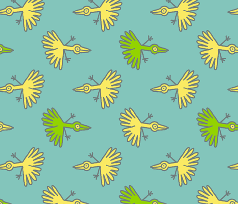 birds fabric by jonburgessdesign on Spoonflower - custom fabric