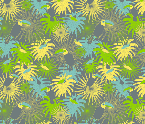 jungle mix fabric by kociara on Spoonflower - custom fabric