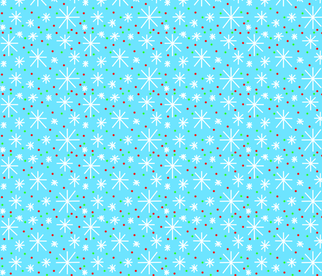 holiday snowflakes fabric by laurab23 on Spoonflower - custom fabric
