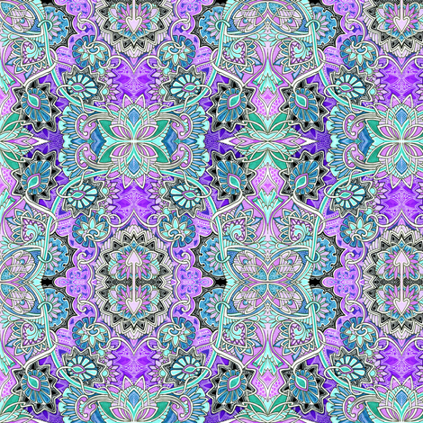 When I Close My Eyes I see Paisley fabric by edsel2084 on Spoonflower - custom fabric