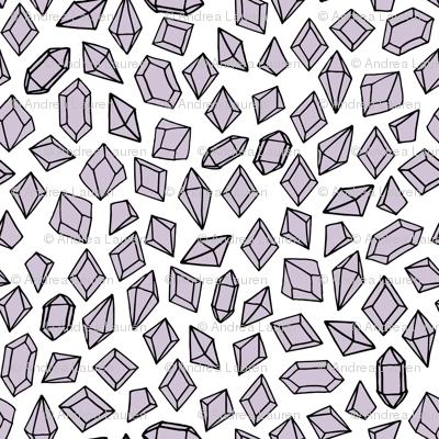 Crystals - Lavender by Andrea Lauren