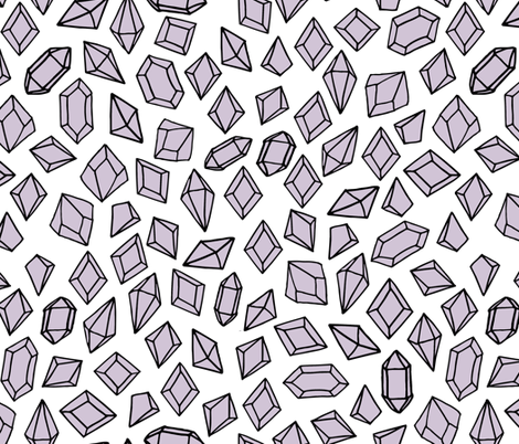 Crystals - Lavender by Andrea Lauren fabric by andrea_lauren on Spoonflower - custom fabric