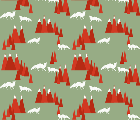 Christmas Fox - Woodland  fabric by papersparrow on Spoonflower - custom fabric
