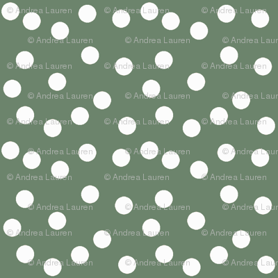 Christmas Dots - Dark Sage