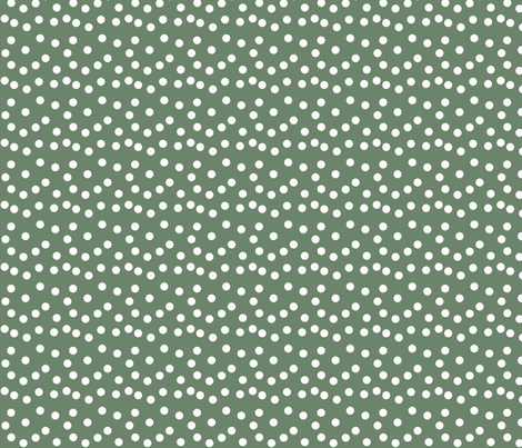 Christmas Dots - Dark Sage fabric by papersparrow on Spoonflower - custom fabric