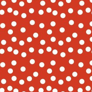 Christmas Dots - Dark Red