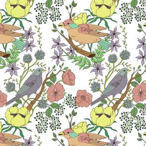 pastel bird garden