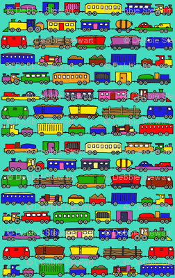 trains coloured in small