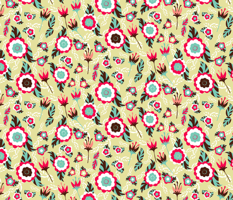 Flower power fabric by kezia on Spoonflower - custom fabric