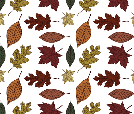 autumn leaves fabric by michelleadoran on Spoonflower - custom fabric