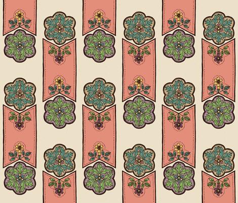 decorative floral 1 fabric by michelleadoran on Spoonflower - custom fabric