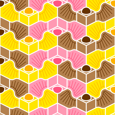 flights of fondant fancies (p2mg bird) fabric by sef on Spoonflower - custom fabric