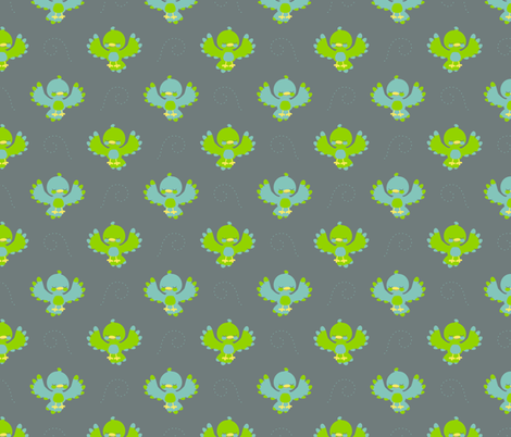 Cute little birds fabric by petitspixels on Spoonflower - custom fabric