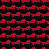 otter linocut-red