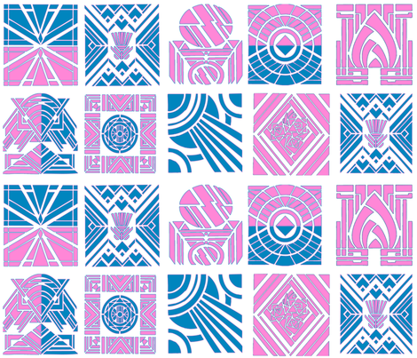 Pink Deco fabric by tulsa_gal on Spoonflower - custom fabric