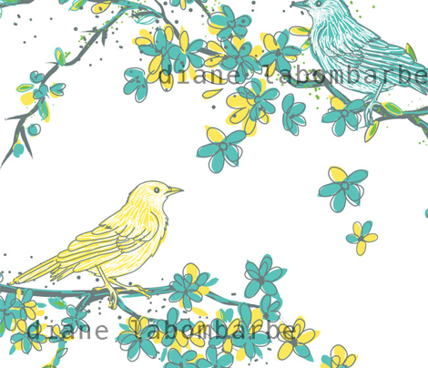 Spring Blossoms & Song Birds