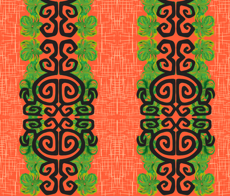 Kauai Riviera in perfect coral fabric by sophista-tiki on Spoonflower - custom fabric