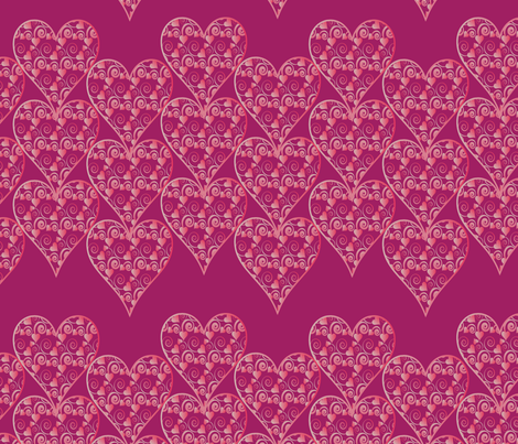 valentine hearts fabric by kociara on Spoonflower - custom fabric