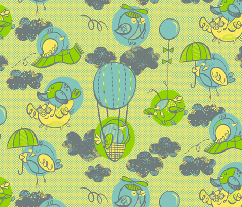Avian Aviators  fabric by gsonge on Spoonflower - custom fabric