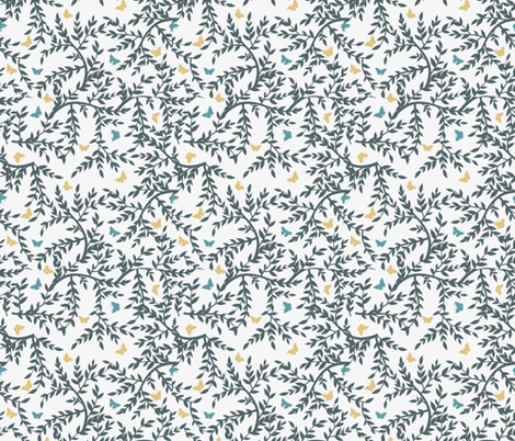 Leaves and Butterflies Pattern fabric by diane555 on Spoonflower - custom fabric