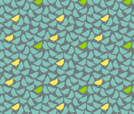 bird-silhouettes fabric by alik on Spoonflower - custom fabric