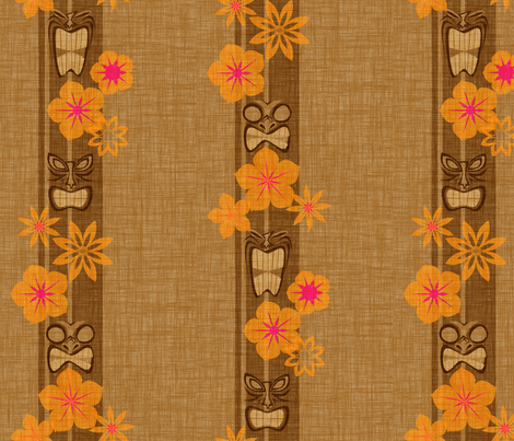 Tiki Stripe - coconut fabric by jwitting on Spoonflower - custom fabric