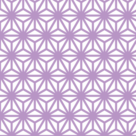 asanoha in charoite fabric by chantae on Spoonflower - custom fabric