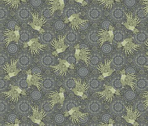 fancy_flight subdued fabric by glimmericks on Spoonflower - custom fabric