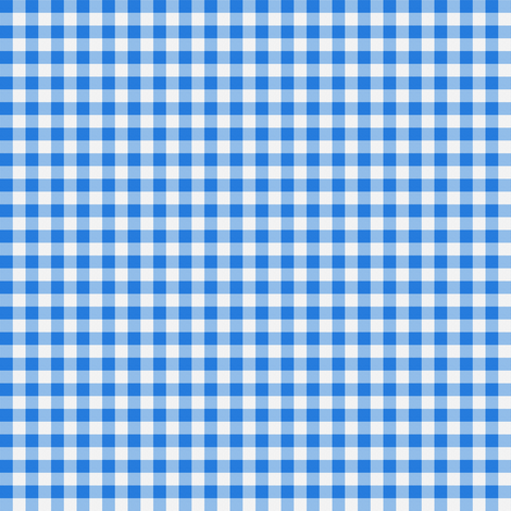 Gingham ~ True Blue fabric by peacoquettedesigns on Spoonflower - custom fabric